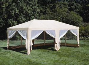 12ft x 20ft Screen House Gazebo Canopy Tent Beige - Covered Living