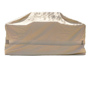 taupe-island-barbecue-outdoor-cover-frontal-view