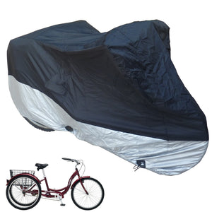 "adult-tricycle-cover-black-top-silver-bottom-26""-wheel"