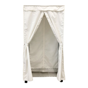Portable Garment Rack Closet Fabric Cover - Covered Living