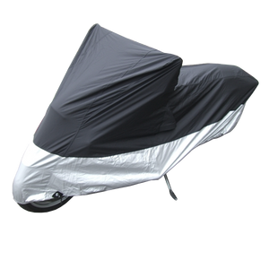 Deluxe All Season Light Weight Motorcycle Cover (XL) Black