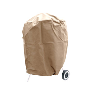 "Heavy Gauge Round Charcoal Kettle Grill Cover up to 30"" Dia. Safari Taupe - Covered Living"