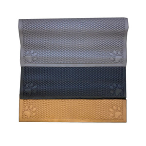 "Pet Feeding Non-Slip Mat Waterproof For Water or Food Bowl Small 18""L x 23""W in 3 Colors (Jet Black, Slate Grey, Latte)"