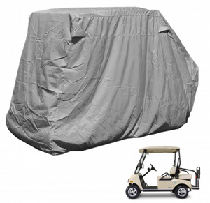 "golf-cart-storage-cover-EZGO-Club-Car-Yamaha-G-short-roof-58""L-4-passenger-grey"