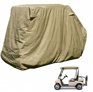 "golf-cart-storage-cover-EZGO-Club-Car-Yamaha-G-short-roof-58""L-4-passenger-taupe"