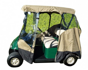 "golf-cart-3-sided-enclosure-cover-EZGO-ClubCar-Yamaha-G-short-roof-58""L-2-passenger"