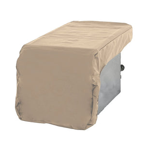 Outdoor Built-In Side Burner Cover for Side Burners up to 19 inches Wide Safari Taupe - Covered Living