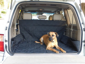 Deluxe Quilted & Padded Cargo Liner for Cars, Vans, Pick Up Trucks Black - Covered Living