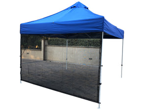 10X10 Pop Up Tent Sun Shade Screen Panel Wall Full 72 in Black - Covered Living