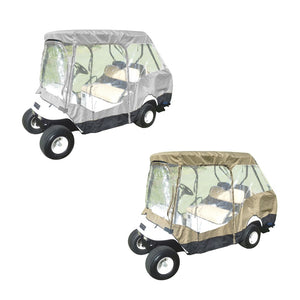 "Golf Cart Driving Enclosure Cover for EZGO, Club Car, Yamaha G (Short Roof, 58""L) - 4 Passenger"