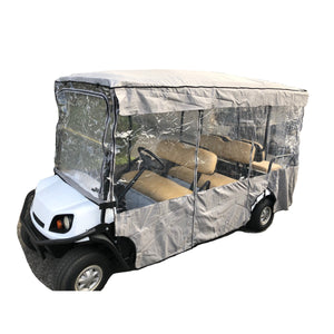 6 Passengers Driving Enclosure Golf Cart Cover fits EZGO 4 + 2 Bench - Covered Living