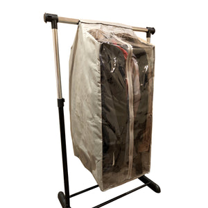 Full Garment Rack Cover Closet Rod Cover Beige - Covered Living