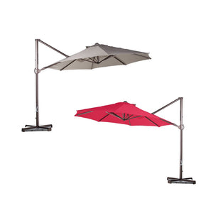 11ft 8 Ribs Cantilever Supporting Bar Umbrella Replacement Canopy