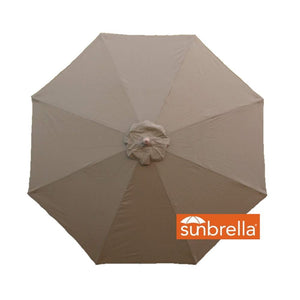 Patio Umbrella Replacement Canopy 9 Ft 8 Rib Cocoa - Covered Living