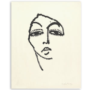 Abstract lady vintage print