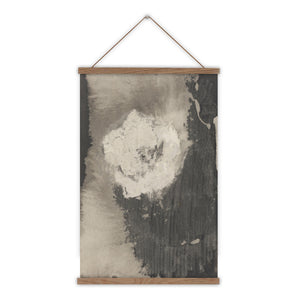 Abstract flower monochrome wall hanging
