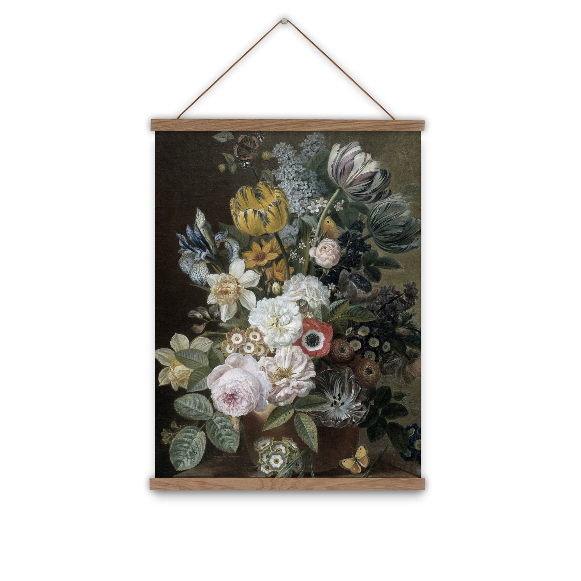 Vintage floral wall chart