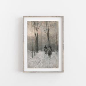 Fine art print of horse riders