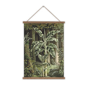 Mus Vittata canvas wall chart tropical print