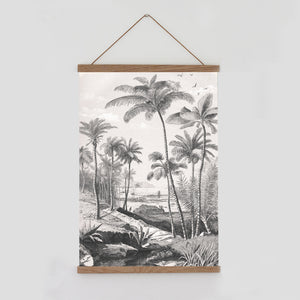 Palm tree wall hanging