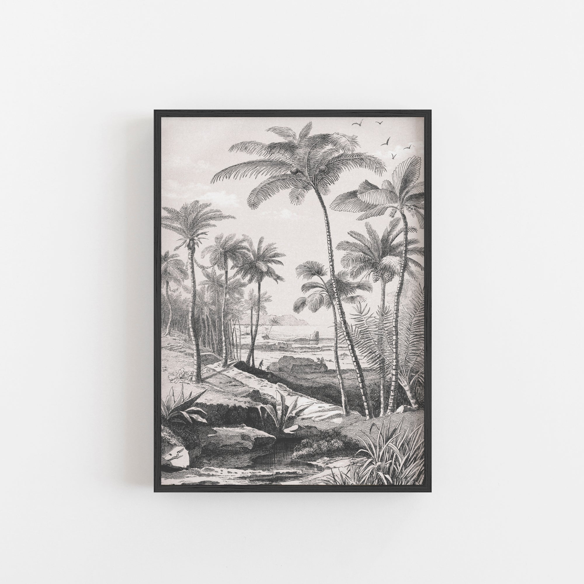 Tropical palm beach wall art