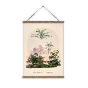 Palm tree canvas wall chart