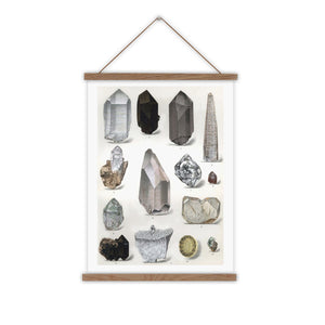crystal canvas wall chart with Oak poster hanger
