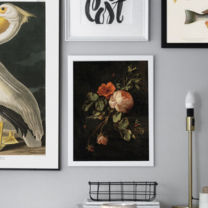 Vintage roses on a dark background gallery wall