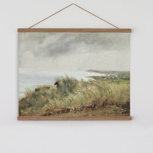 Vintage seascape painting canvas wall chart
