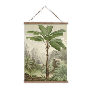 canvas wall chart featuring green palm free from Seychelles