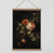 Old Dutch Master painting roses canvas wall chart