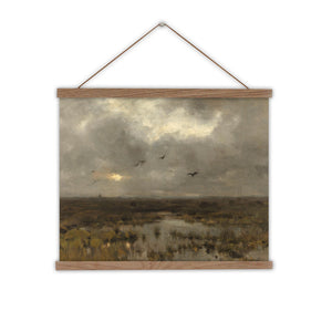 Canvas wall chart vintage landscpae of a marsh