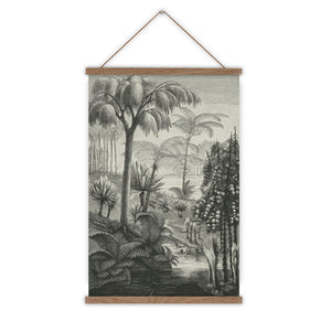 vintage jungle wall chart print