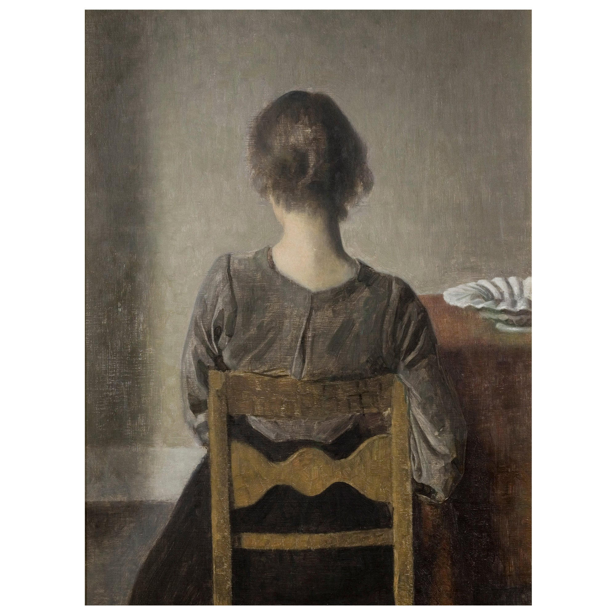 Ida girl on a chair vintage poster print