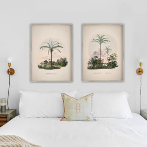 Bedroom  art prints vintage palm trees