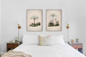 Set of 2 palm tree prints gallery wall