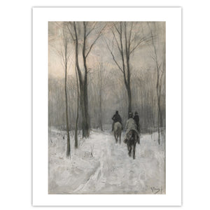 Vintage painting of horses