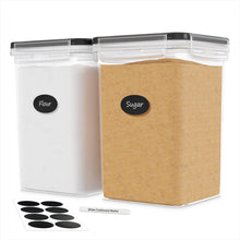 Extra Large Airtight Food Storage Containers - 2 PC 175 oz Each - For Flour & Sugar - Air Tight Pantry & Kitchen Organization Bulk Food Storage Canisters with Marker & Labels
