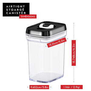 Airtight Food Storage Containers with Lids – 6 Piece Set