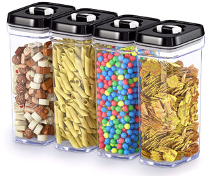 Airtight Food Storage Containers with Lids – 4 Piece Set