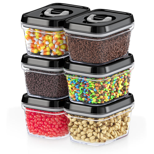 Airtight Food Storage Containers with Lids Small Candy Bin – 6 Piece Set