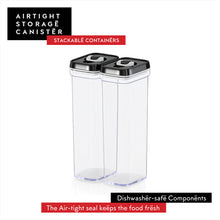 Airtight Food Storage Tall Containers for Spaghetti Noodle and Pasta - 2 Piece Set