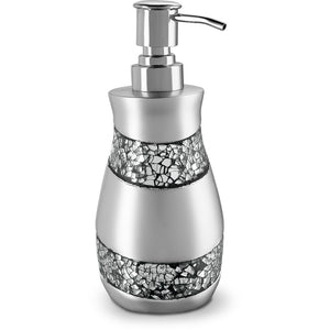 Silver Mosaic Soap Dispenser