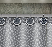 Shower Curtain Hooks - Set of 12 Shower Hooks for Curtain - Rust Resistant Shower Curtain Rings for Guest and Master Bathroom Shower Rods (Silver Gray)