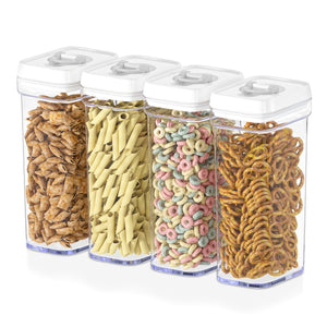 Airtight Food Storage Containers with White Lids – 4 Piece Set