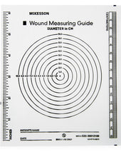 McKesson Non-Sterile Plastic Wound Measuring Guide, 5 x 7 Inch, Clear, 1/EA
