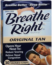 Breathe Right® Nasal Strips, 30/BX - SoundMedicalSupplies.com