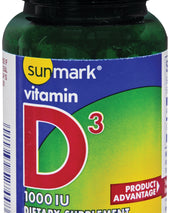 sunmark® Vitamin D-3 Supplement, 100/BT