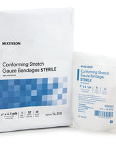 McKesson Sterile Polyester Conforming Bandage Roll, 3 Inch x 4-1/10 Yard, 96/CS