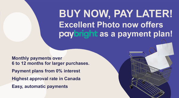 Buy now, pay later! Excellent Photo now offers Paybright as a payment plan!